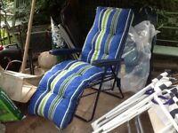 Garden reclining folding sun lounger