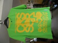 Mens Green and Yellow Crosshatch T-Shirt