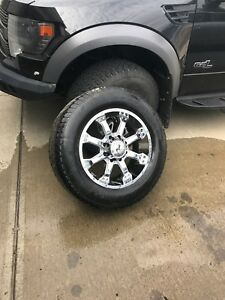 """20""""  ford superduty rims and tires"""