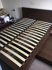 Next Walnut Double Bed Frame