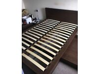 Next Walnut Double Bed Frame