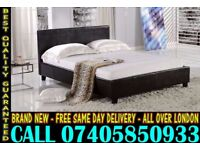 BRAND NEW SINGLE DOUBLE AND KING SIZE LEATHER BED WITH MATTRESS. Jonesborough