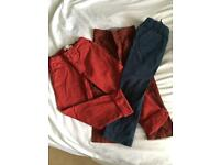 3 pairs of boys trousers