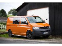 VW Transporter T5 Camper Van, Orange, 2004 SWB, high spec
