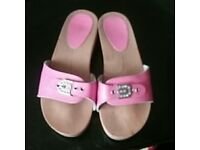Pink leather sandals size 6