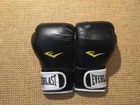 Everlast Boxing Gloves (Pro Style Training, Black, 14oz)