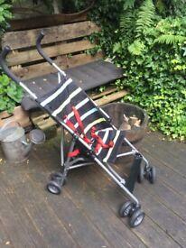 John Lewis striped travel buggy