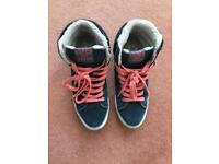 Woman's Superdry high-top trainers