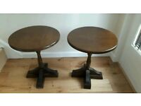 Old charm style solid wood circular tables x w