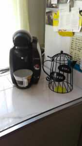 Tassimo coffee maker and pod caddy