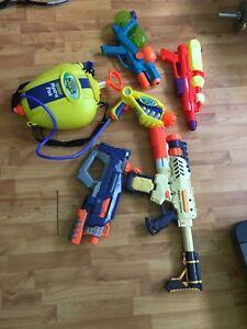 5 water guns