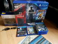 PS4 Slim 1TB/2Controllers/10 Games