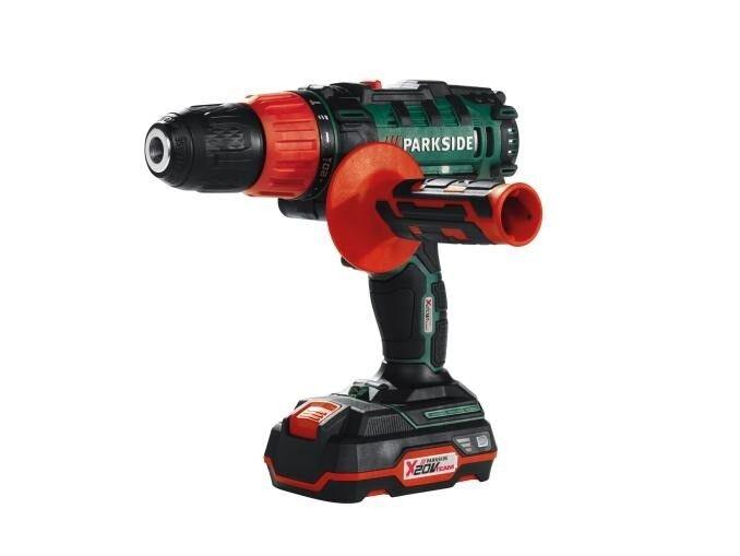 20v Cordless Impact Hammer Drill Driver Power Tool Diy Handy