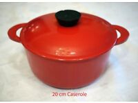 Le Creuset Style French Heavy Cast-Iron 20 cm Casserole with Lid by Cuisine Royal