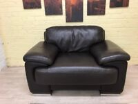 Violino Brown Leather Armchair