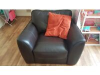 Brown leather arm chair for sale pick up only waterloo