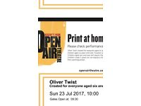 Oliver Twist tickets Open Air Theatre Sunday July 23rd
