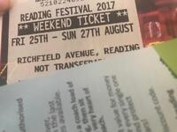 Reading weekend ticket with camping gear