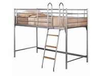 metal mid sleeper bunk bed single