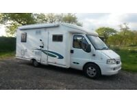 Fiat Ducati Motorhome excellent condition. Fixed bed in rear, kitchen and shower room.