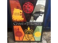 Game of thrones picture in a frame
