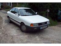 Left Hand Drive Audi 80 1.6 petrol