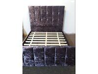 Brand new crushed velvet double bed frame