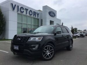 2016 Ford Explorer Sport, Heated and Cooled Seats, Navigation