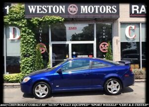 2007 Chevrolet Cobalt SS*AUTO*SPORT WHEELS*CERT & E-TESTED*