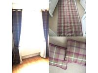 Dunelm Mill 168x228mm fully lined curtains with matching cushions