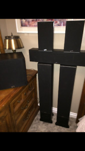 Soundstage home theatre speakers and Yamaha receiver