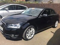 Black Audi A3 convertible, low miles, 3 year warranty
