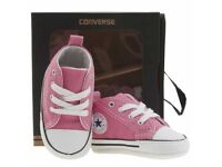 Pink baby converse BRAND NEW 3-6 months