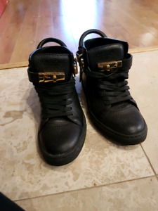 buscemi leather shoes