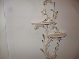 decorative shelves x 3 cream gold