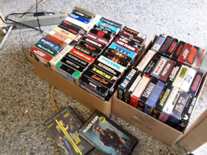 COLLECTION OF 75 VHS MOVIES WITH PLAYER MACHINE  ONLY $ 55.00