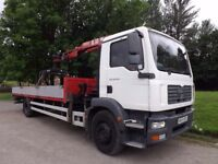 2007 MAN TGM 18.240 Dropside Crane For Sale