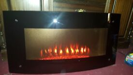 Wall Hung Heated Electric Fireplace 41 X 20 inches