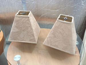 2 Beige Lampshades Excellent Condition