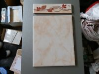 wall tiles and borders in marble effect