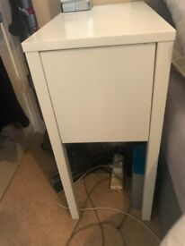 Nordli ikea white bed side tables - 2 for £95