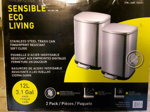 Sensible Eco Living Stainless Steel 12L Garbage Can