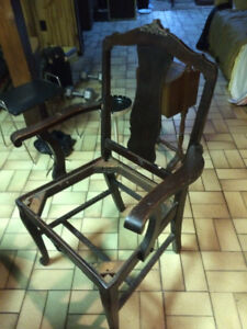 Antique chairs, cigar stand, ash tray, brassd door bell cover