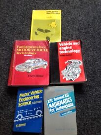 MOTOR VEHICLE, MECHANICS TRAINING BOOKS.