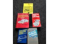 MOTOR VEHICLE, MECHANICS TRAINING BOOKS.