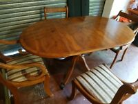 Good quality dining table and 4 chairs