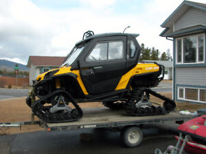 Canam Commander 800 XT with tracks and full cab