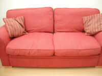 Red Chenille 3 Seater Sofa