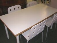 White Ikea Dining Table and 4 Chairs