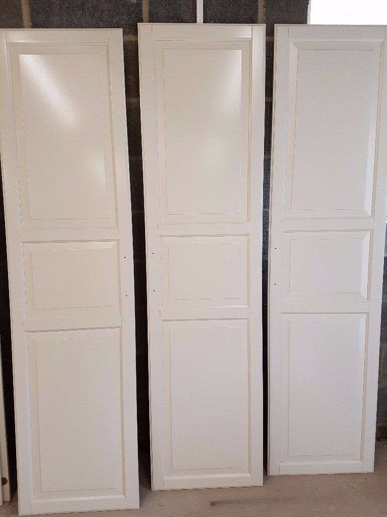 3 ikea pax tyssedal wardrobe doors 500cm x 195cm white in. Black Bedroom Furniture Sets. Home Design Ideas